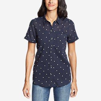 Thumbnail View 3 - Women's Packable Short-Sleeve Shirt - Boyfriend
