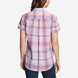 Thumbnail View 2 - Women's Packable Short-Sleeve Shirt - Boyfriend