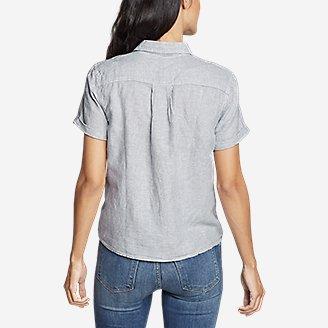 Thumbnail View 2 - Women's Emmons Vista Short-Sleeve Tie-Front Shirt - Boyfriend