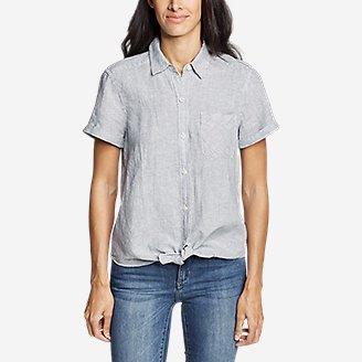 Thumbnail View 3 - Women's Emmons Vista Short-Sleeve Tie-Front Shirt - Boyfriend