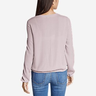 Thumbnail View 2 - Women's Thistle Long-Sleeve Wrap Top - Solid