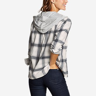 Thumbnail View 2 - Women's Stine's Favorite Flannel Hoodie Shirt Jacket