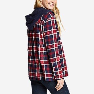 Thumbnail View 2 - Women's Stine's Favorite Flannel Hoodie Shirt Jacket
