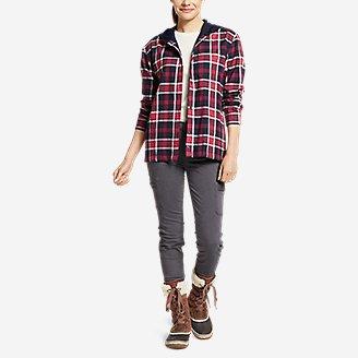 Thumbnail View 3 - Women's Stine's Favorite Flannel Hoodie Shirt Jacket