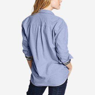 Thumbnail View 2 - Women's Stine's Favorite Flannel Boyfriend Shirt - Solid