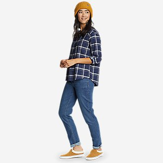 Thumbnail View 3 - Women's Fremont Flannel Crossover-Back Henley Shirt