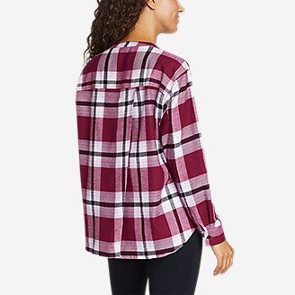 Thumbnail View 2 - Women's Fremont Flannel Crossover-Back Henley Shirt