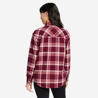 Thumbnail View 2 - Women's Eddie's Favorite Flannel Faux Shearling-Lined Shirt Jacket