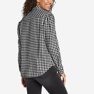Thumbnail View 2 - Women's Fremont Flannel Puff-Sleeve Shirt