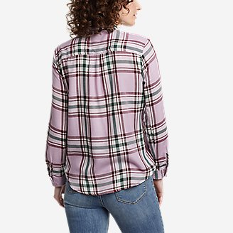 Thumbnail View 2 - Women's Tranquil One-Pocket Long-Sleeve Shirt - Yarn-Dyed