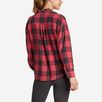 Thumbnail View 2 - Women's Fremont Flannel Ruffle-Neck Shirt