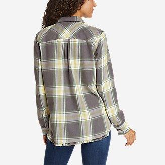 Thumbnail View 2 - Women's Fremont Flannel Frayed Hem Shirt