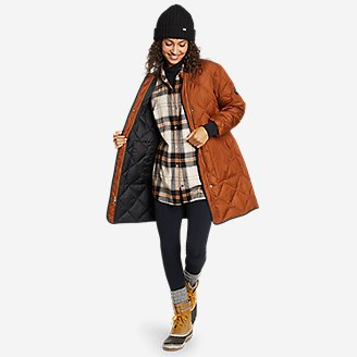 Thumbnail View 3 - Women's Fremont Flannel Snap-Front Tunic