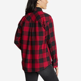 Thumbnail View 2 - Women's Firelight Flannel Shirt - Boyfriend