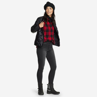 Thumbnail View 3 - Women's Firelight Flannel Shirt - Boyfriend