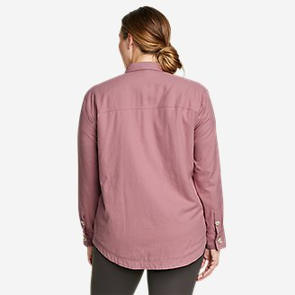 Thumbnail View 2 - Women's Eddie's Faux Shearling-Lined Shirt Jacket