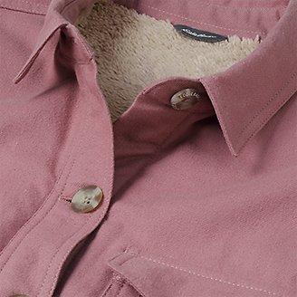 Thumbnail View 3 - Women's Eddie's Faux Shearling-Lined Shirt Jacket