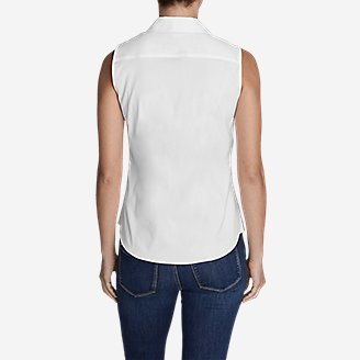 Thumbnail View 2 - Women's Wrinkle-Free Sleeveless Shirt - Solid