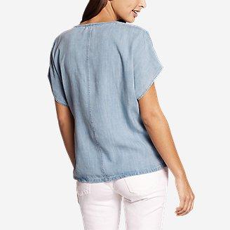 Thumbnail View 2 - Women's Tranquil Tie Short-Sleeve Shirt - Print
