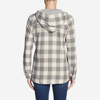 Thumbnail View 2 - Women's Stine's Favorite Flannel Hooded Shirt Jacket