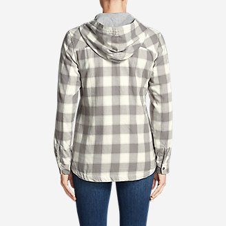 Thumbnail View 3 - Women's Stine's Favorite Flannel Hooded Shirt Jacket