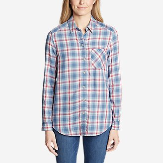 Thumbnail View 3 - Women's Tranquil Boyfriend Shirt - Plaid