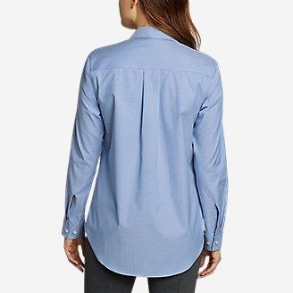 Thumbnail View 2 - Women's Wrinkle-Free Boyfriend Long-Sleeve Shirt