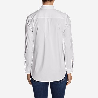 Thumbnail View 2 - Women's Wrinkle-Free Boyfriend Long-Sleeve Shirt