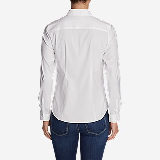 Thumbnail View 2 - Women's Wrinkle-Free Long-Sleeve Shirt - Solid
