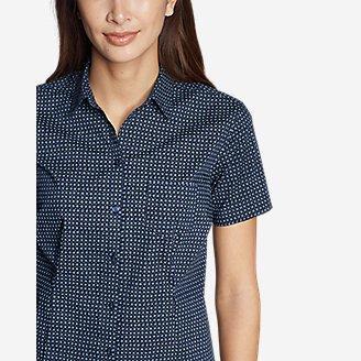 Thumbnail View 3 - Women's Wrinkle-Free Short-Sleeve Shirt - Print