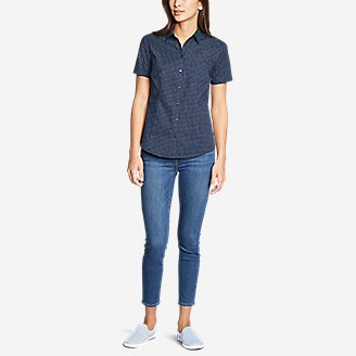 Thumbnail View 2 - Women's Wrinkle-Free Short-Sleeve Shirt - Print