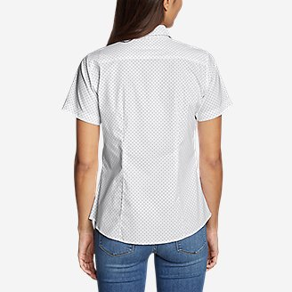 Thumbnail View 2 - Women's Wrinkle-Free Short-Sleeve Shirt - Print