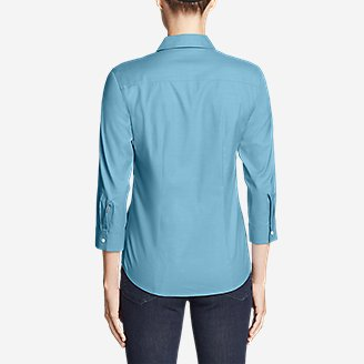 Thumbnail View 2 - Women's Wrinkle-Free 3/4-Sleeve Shirt - Solid