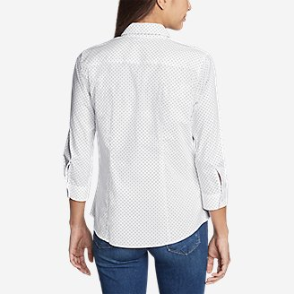 Thumbnail View 2 - Women's Wrinkle-Free 3/4-Sleeve Shirt - Print