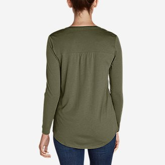 Thumbnail View 2 - Women's Gate Check Long-Sleeve Split-Neck Tunic