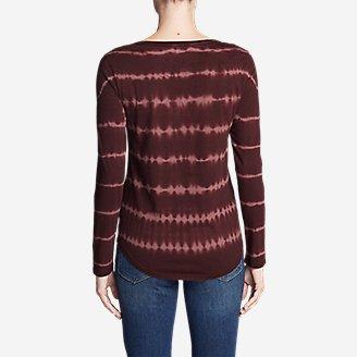 Thumbnail View 2 - Women's Gypsum Long-Sleeve Henley Shirt - Tie Dye