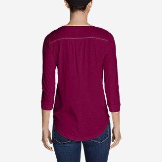Thumbnail View 2 - Women's Lola 3/4-Sleeve Henley Shirt