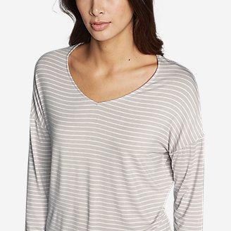 Thumbnail View 3 - Women's Celestial Ultrasoft Long-Sleeve V-Neck T-Shirt