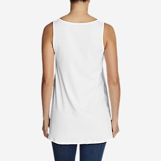 Thumbnail View 2 - Women's Favorite Notched-Neck Tunic Tank Top