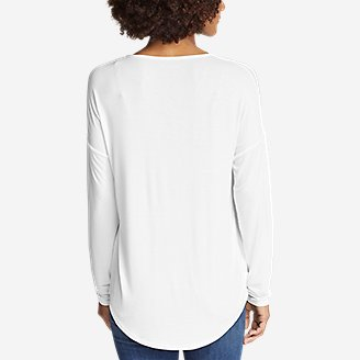 Thumbnail View 2 - Women's Celestial Ultrasoft Long-Sleeve V-Neck T-Shirt - Solid