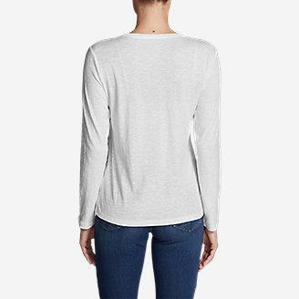 Thumbnail View 2 - Women's Legend Wash Slub Long-Sleeve V-Neck