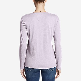 Thumbnail View 2 - Women's Legend Wash Slub Long-Sleeve Crew