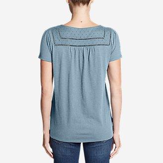 Thumbnail View 2 - Women's Lola Short-Sleeve Split-Neck Shirt