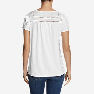 Thumbnail View 2 - Women's Lola Short-Sleeve Split-Neck Shirt