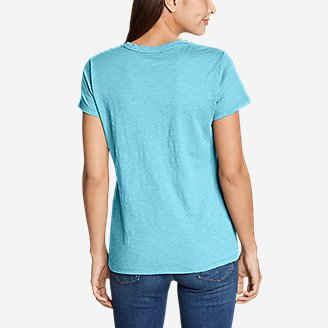Thumbnail View 3 - Women's Legend Wash Slub Short-Sleeve Crew T-Shirt