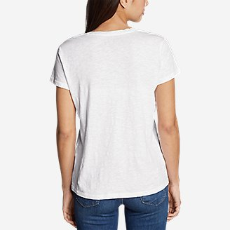 Thumbnail View 3 - Women's Legend Wash Slub Short-Sleeve V-Neck T-Shirt