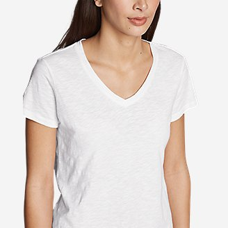 Thumbnail View 2 - Women's Legend Wash Slub Short-Sleeve V-Neck T-Shirt