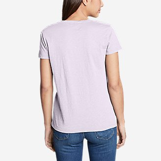 Thumbnail View 3 - Women's Legend Wash Slub Short-Sleeve V-Neck T-Shirt