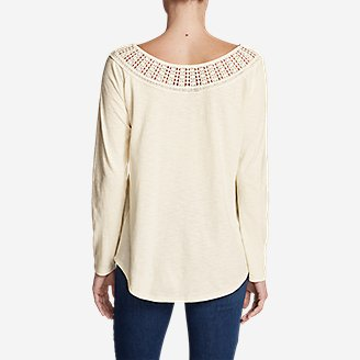 Thumbnail View 2 - Women's Lola Long-Sleeve Lace-Neck Top