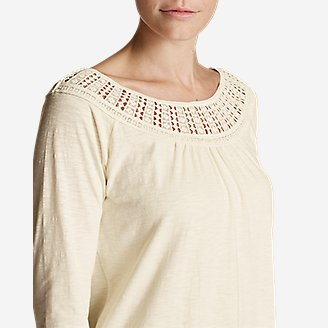 Thumbnail View 3 - Women's Lola Long-Sleeve Lace-Neck Top